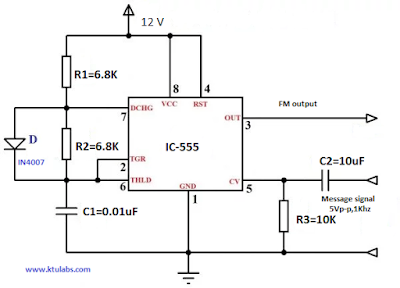 FM Modulation Using 555 IC on