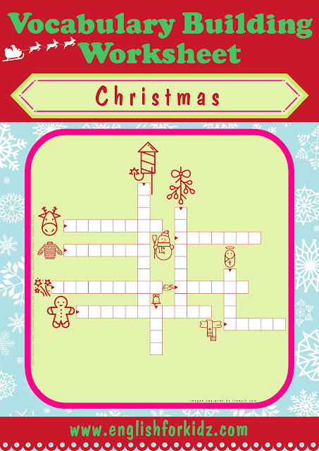 ESL Christmas crossword puzzle