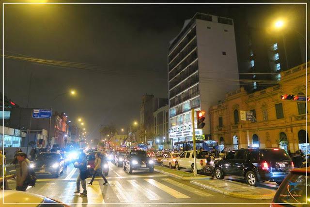 Centro de Lima, à noite