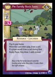 My Little Pony Pie Family Rock Farm Canterlot Nights CCG Card