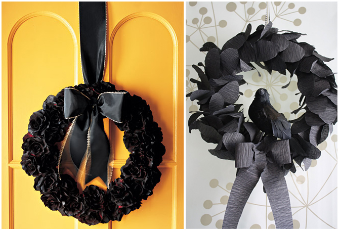 On A Slightly Ier Note I Really Like The Look Of These All Black Wreaths Take At Martha S Tutorial Here To Figure Out How Make