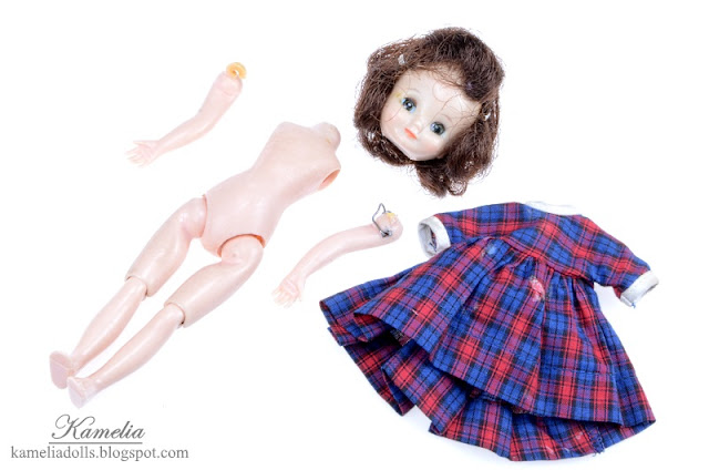 Old doll require repair.