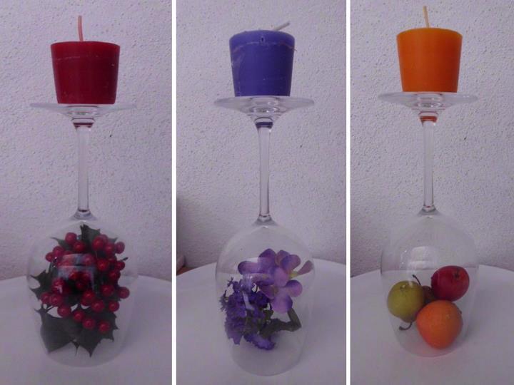 Popurri regalos decoraci n complementos decoraci n de for Adornos navidenos con copas y velas