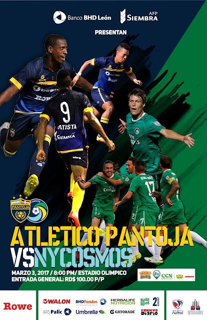 Club Atlético Pantoja y New York Cosmos se enfrentan en un partido internacional por la Copa BHD LEÓN – AFP SIEMBRA