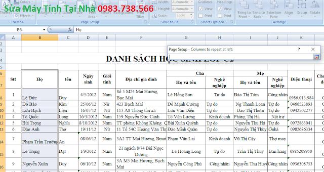 In một cột cho tất cả các trang trong Excel - H06