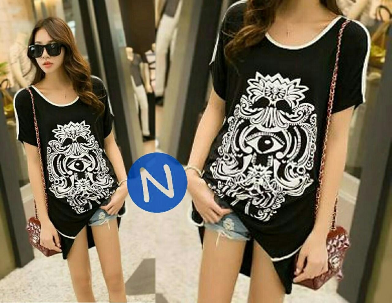 Jual Baju Big Size Blouse Eyes Ethnic - 12622