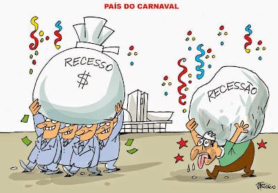 Resultado de imagem para charge do carnaval