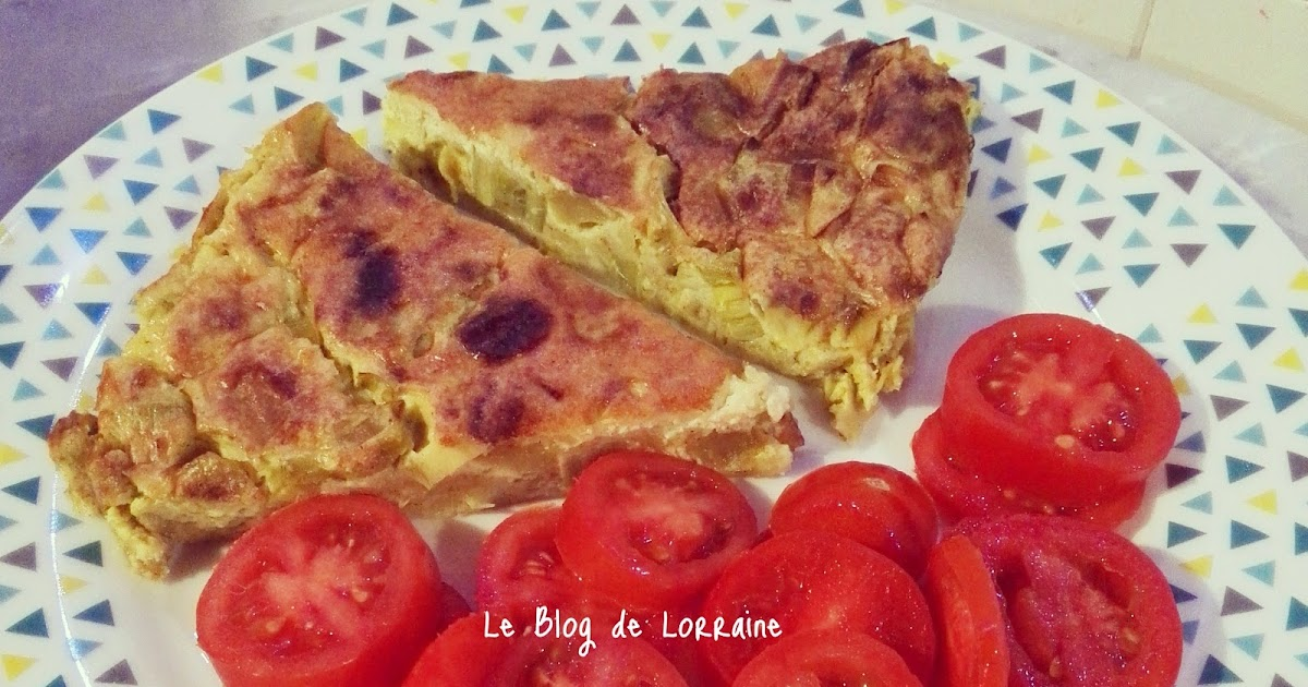 le blog de lorraine quiche sans p te poireaux pomme curry sans gluten sans lactose sal. Black Bedroom Furniture Sets. Home Design Ideas