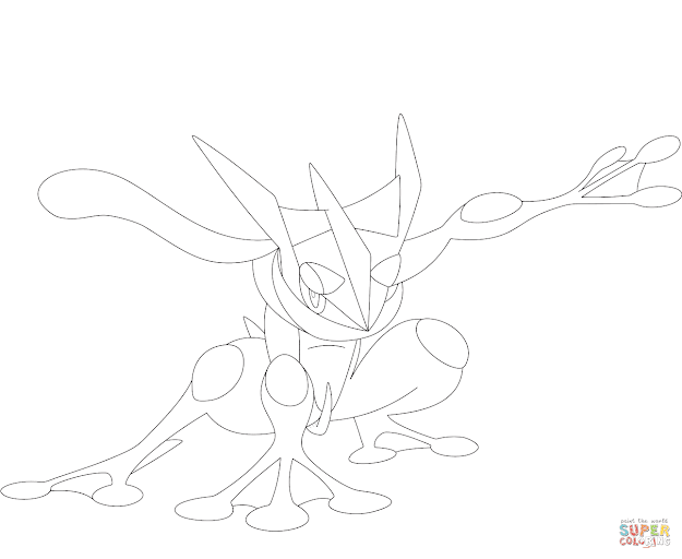 Click The Greninja Coloring Pages To View Printable Version Or Color It  Online Patible With Ipad And Android Tablets