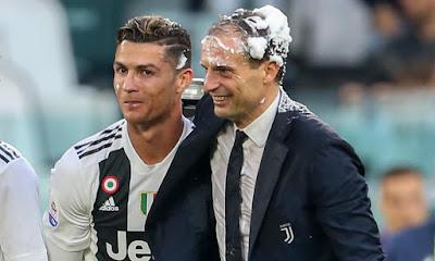 CR7 e treinador da Juventus