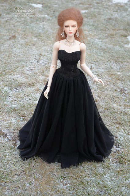 Handmade gown for BJD doll
