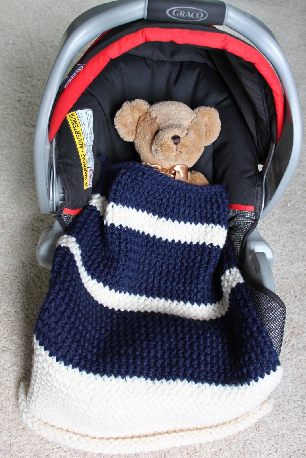 CREATE STUDIO: Knit Car Seat Blanket