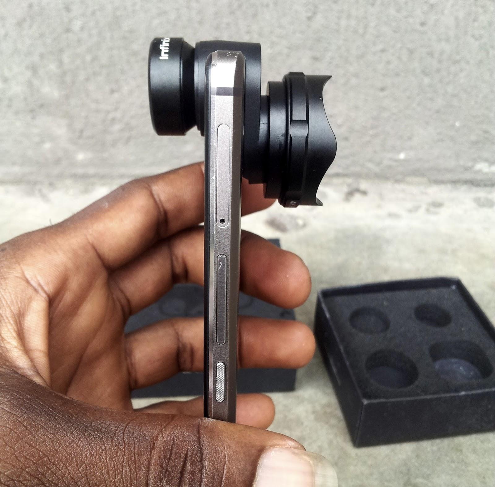 attaching lens mount to infinix zero 4 smart phone