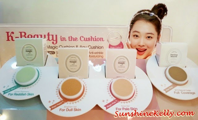 Etude House Precious Mineral Magic Any Cushion, Etude House, Precious Mineral, Magic Any Cushion, makeup, sulli, k beauty, k makeup, korean makeup trend, pink, mint & peach cushion colours