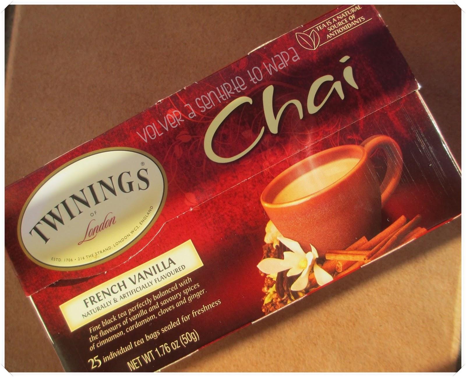 Twinings té chai de vainilla de iHerb
