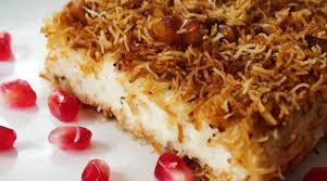 Turkish Milk Pudding with Kadaifi (Kadayifli Muhallebi)