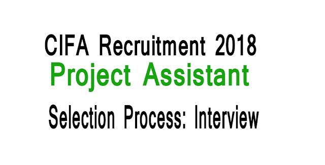 CIFA Recruitment 2018