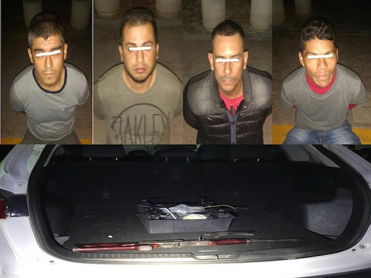 """Caen cuatro sicarios con """"Cuerno de Chivo"""" y Dron para espiar en Salamanca"""