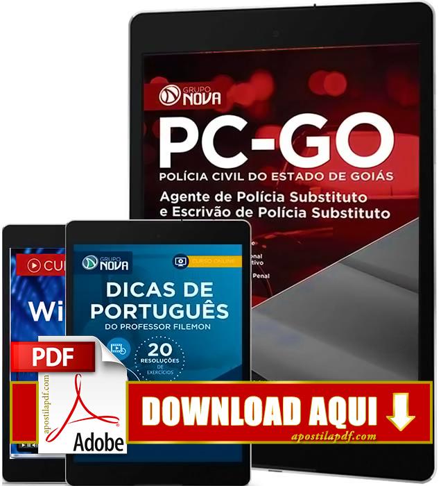 Apostila Polícia Civil GO 2016 PDF Download Agente de Polícia Civil e Escrivão de Polícia Civil