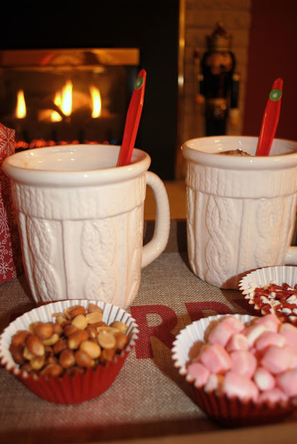 Hot cocoa Ice cream Christmas movie night