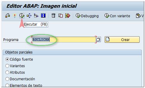 Programa SAP RSCLICHK - Consultoria-SAP
