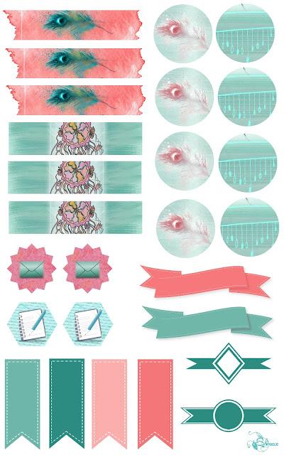 http://heartsandwingsbyshireece.blogspot.com/2016/06/boho-stickers-planner-kit.html