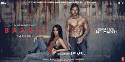 Baaghi Poster – Tiger Shroff, Shraddha Kapoor