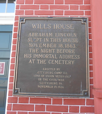 David Wills House in Gettysburg Historical Marker