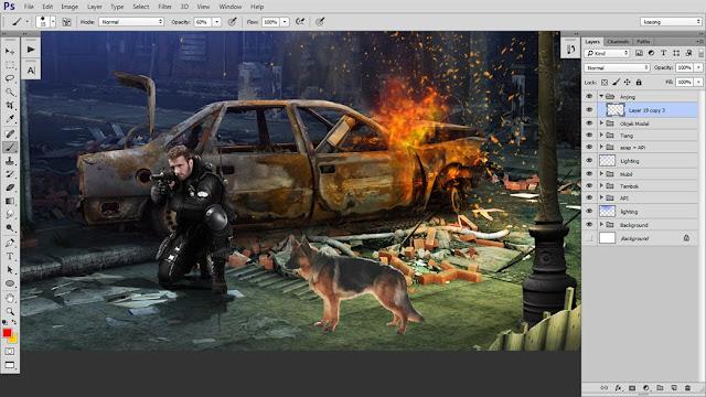 40 Tutorial Photoshop Dramatic Manipulation WAR part 2