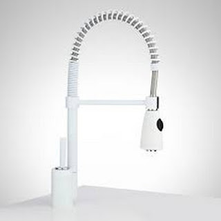 White Kitchen Faucet Pull Down