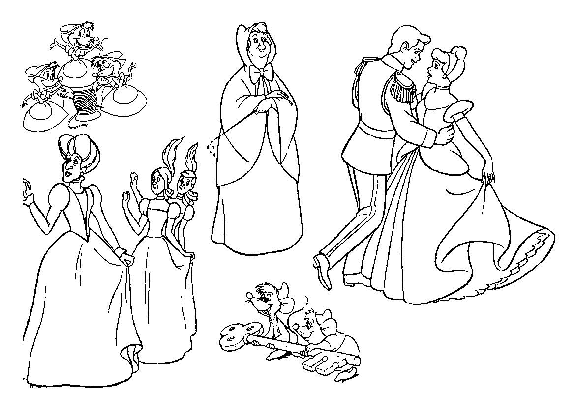 Desenhos para Colorir e Imprimir: Desenhos da Cinderela