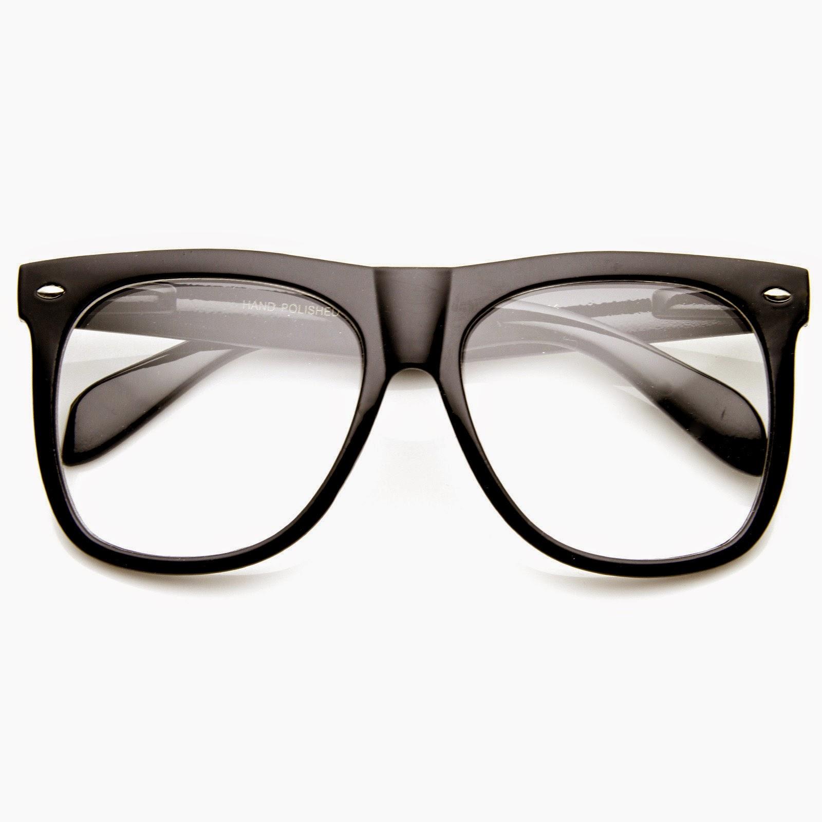 Clear Lens Hipster Glasses Frame Wayfarar Mens Women Nerd ...
