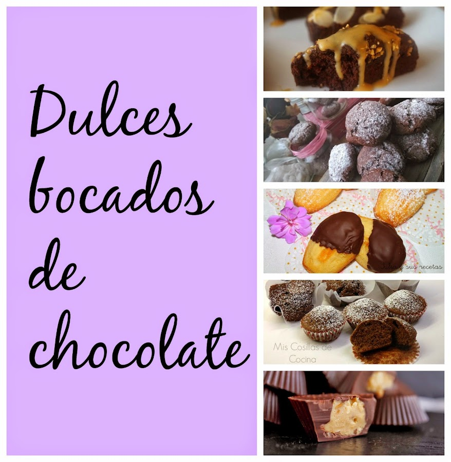 Recetas dulces bocados de chocolate