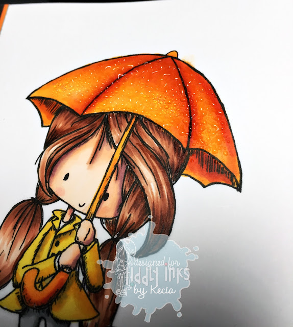Tiddly Inks, Kecia Waters, Copic markers, UTEE, raindrops
