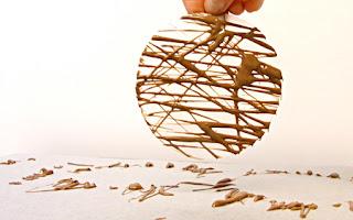 schokogitter zur deko von desserts — rezepte suchen