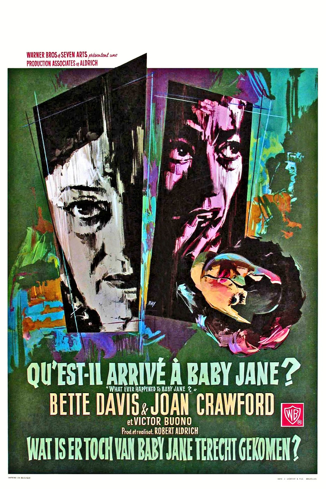 024f0d52232 What Ever Happened to Baby Jane? is a 1962 American psychological  thriller–horror film produced and directed by Robert Aldrich, starring  Bette Davis and ...