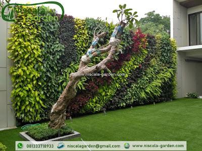 Jasa Pembuatan Taman Vertical Garden
