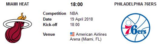 Miami Heat vs Philadelphia 76ers en VIVO