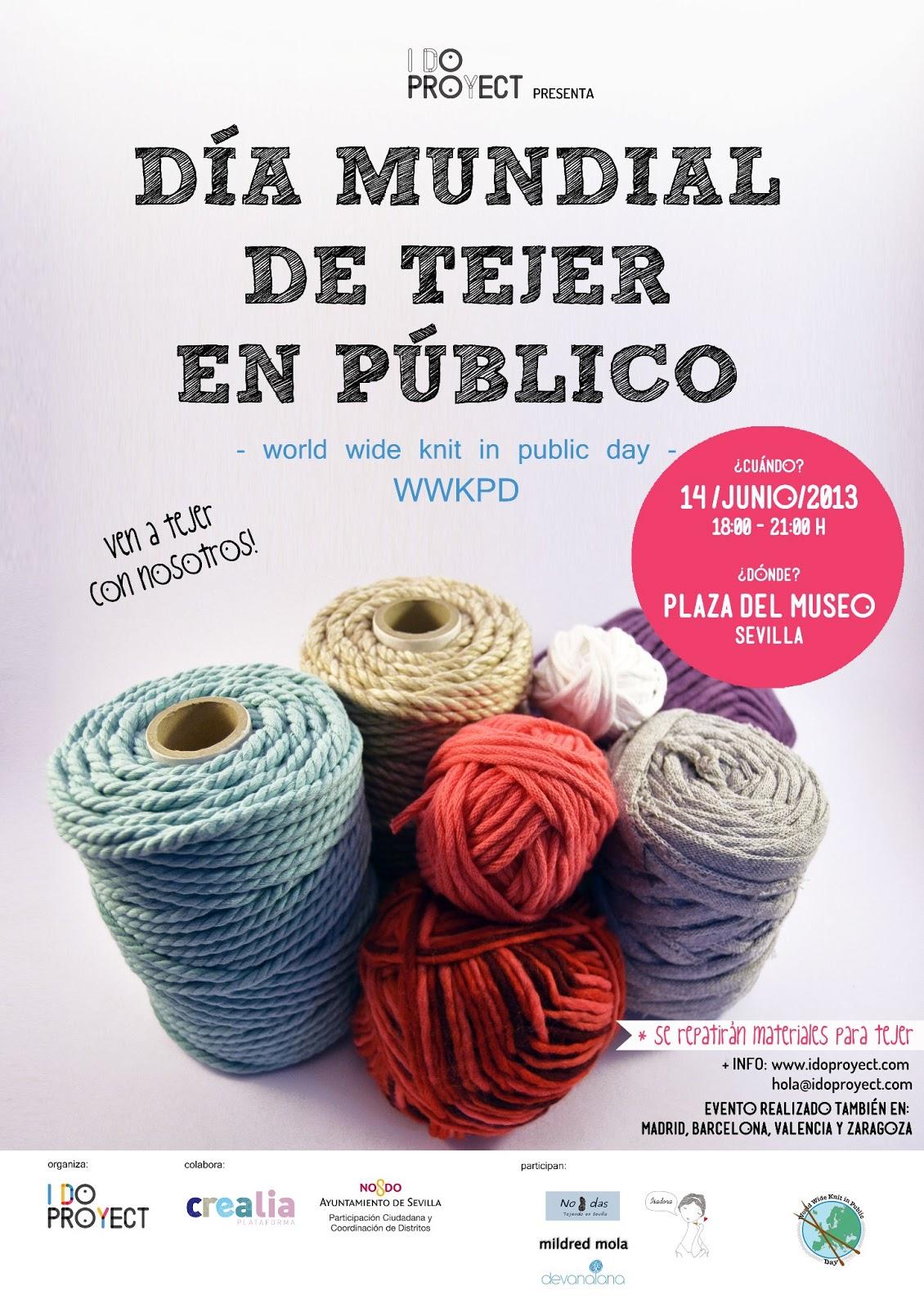 Dia Mundial de Tejer en Publico 14 Junio 2013