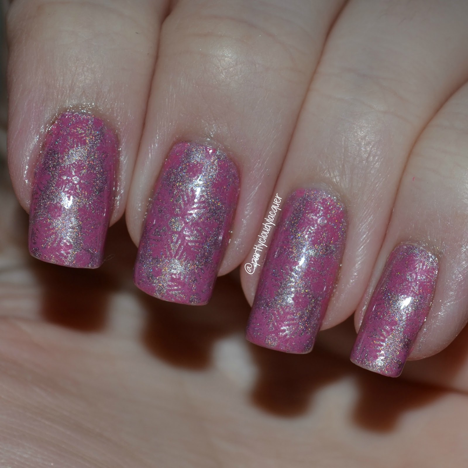Twinsie Tuesday: Pink Holiday Nails | Partly Cloudy With a Chance of ...
