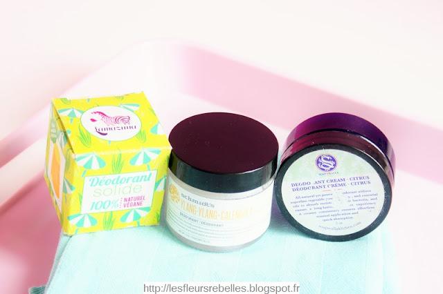 Déodorants naturels solides Lamazuna Schmidt's et Soapwalla