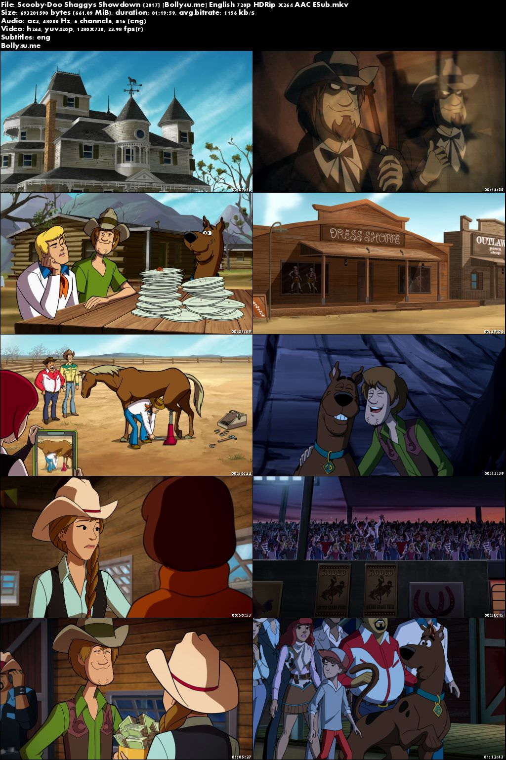Scooby-Doo Shaggys Showdown 2017 HDRip 650MB English 720p ESub Download