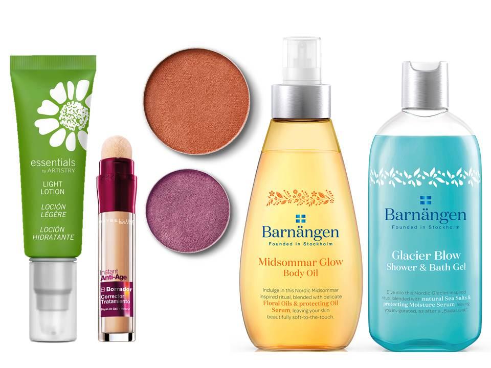 Novidades de beleza; cuidado de corpo e rosto; maquilhagem; Maybelline; Barnärngen; essentials; artistry; quem disse berenice