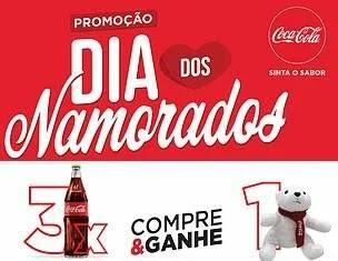 Promoção Coca-Cola Dia dos Namorados 2019 Compre Ganhe Urso Pelúcia