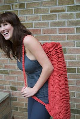 Abigailology Crochet Om Shanti Yoga Mat Bag