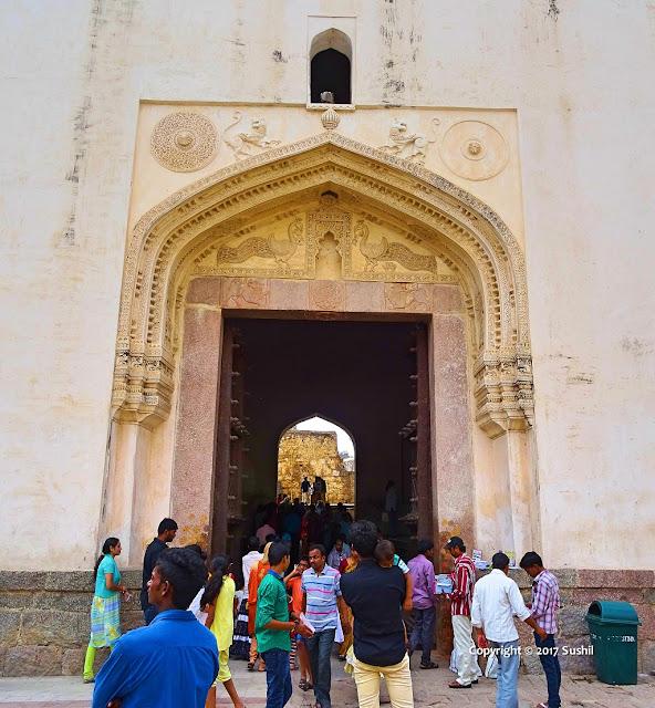 Entrance of the Golkonda Fort, Hyderabad