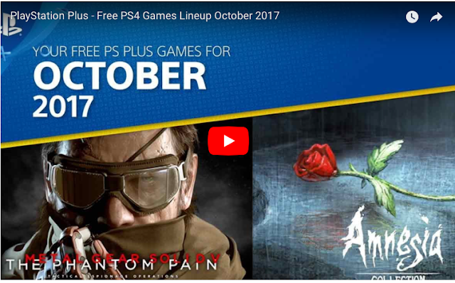 PS Plus: Free Games for October 2017