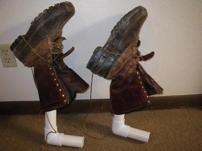 tubos de pvc para secar botas de trabajo