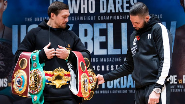 """Boxing: """"Oleksandr Usyk Is Going To Learn To Lose ,"""" Says Tony Bellew"""