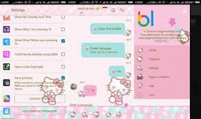 Free Download BBM Hello Kitty Leopard